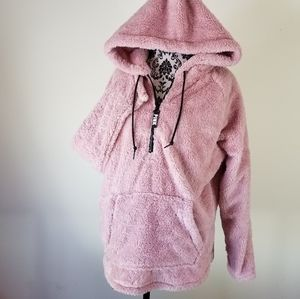 PINK Victoria's Secret Teddy Pullover Hoodie Large